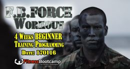 F.B. FORCE Beginners Workout Program analysis